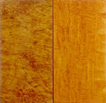 Graining panels by Kenneth Denton